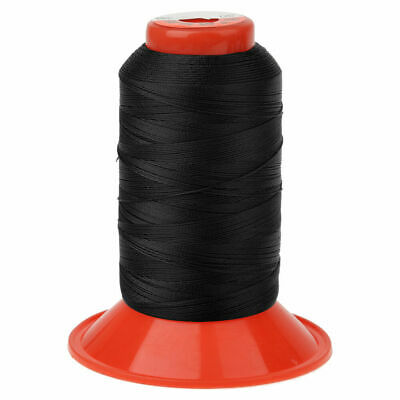 Black Extra Strong Upholstery Polyester Leather Thread Bonded Sewing Spool 650m
