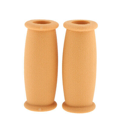 1 Pair Rubber Crutch Hand Grip Covers for Patients Walking Stick Yellow