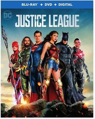 Justice League No Slipcover (Blu-ray, DVD, 2 Disc Set, Digital Copy)