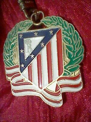 Atletico At Madrid Llavero Keyring Escudo Laurel Vintage Pintura Lacada Spain