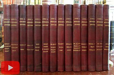World Travel Stoddards Lectures 14 vol 1904 red leather set 2000+ illustrations
