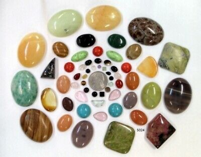 1000+ Carat Total Weight Of Cabochon Gemstones (Eb13-5024)