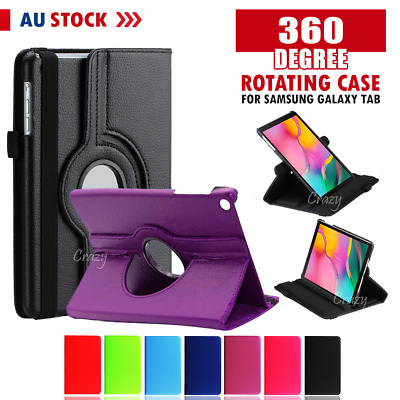 "For Samsung Galaxy Tab A 8.0"" 10.1"" 2019 10.5"" Rotating Flip Stand Case Cover"