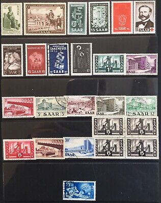 Germany 1950-1953 Saarland issues MLH & Used