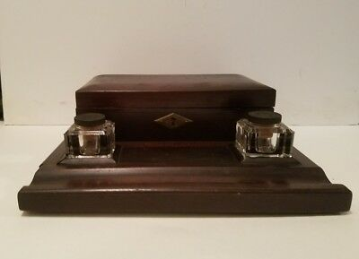 Antique Wooden Inkwell