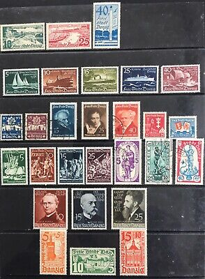 Germany: Free City of Danzig 1935-1939 issues MLH & Used