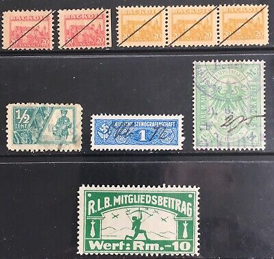 Germany - private/tax/administrative issues 1906-1940s MLH & Used