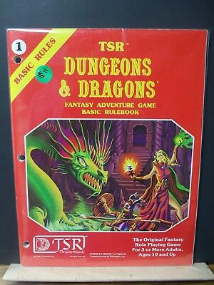 Z411)D&D TSR basic RULE BOOK NO;1 #2014  1980 (red cover)