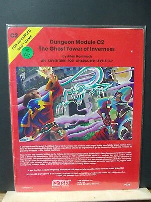 Z423)D&D Ad&D Tsr C2 The Ghost Tower Of Inverness No;9038