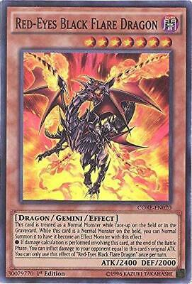 Yugioh Red-Eyes Black Flare Dragon CORE-EN020 Super Rare 1st & Unlimted NM