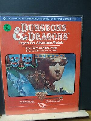 Z432)D&D Ad&D Tsr O1 The Gem And The Staff No;9050  1983