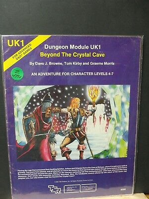 Z437-1)D&D Ad&D Tsr Uk1 Beyond The Crystal Cave 1980 No;9066