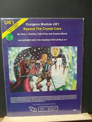 Z437)D&D Ad&D Tsr Uk1 Beyond The Crystal Cave 1980 No;9066