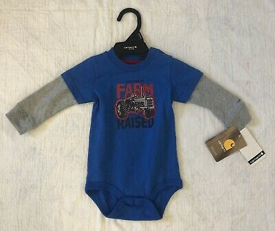 New With Tags Carhartt Baby Boy Outfit 9 Months Farm Raised Tractor