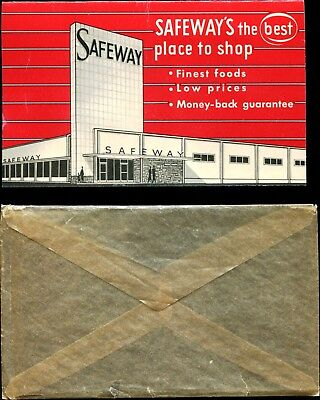 Vintage Safeway Needle Case Card With Original Envelope! Pristine, Near Mint!