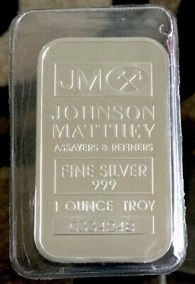 Johnson Matthey 1 oz. Silver Bar Serial # C334248 SEALED
