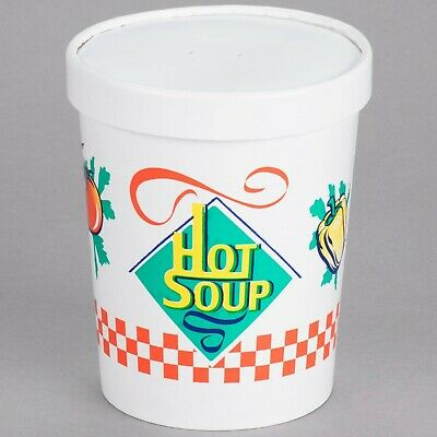 Dart Solo KH32A-86926 32 oz. Double-Wall Poly Paper Soup Hot Food Cup with Ve...