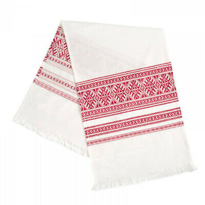 Rushnik Ukrainian Embroidered Folk Towel Rushnyk Wedding Ritual Cloth 31x13""