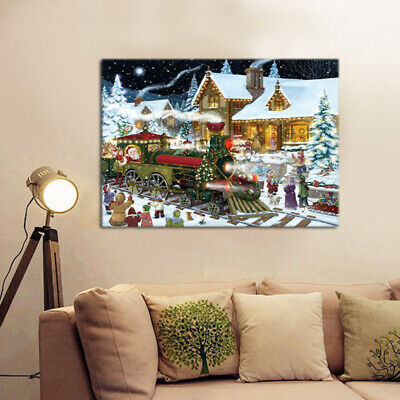 5D Christmas Scene DIY Full Drill Diamond Painting Embroidery Cross Stitch Kit