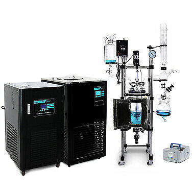USA Lab 20L Single Jacketed Glass Reactor Turnkey System