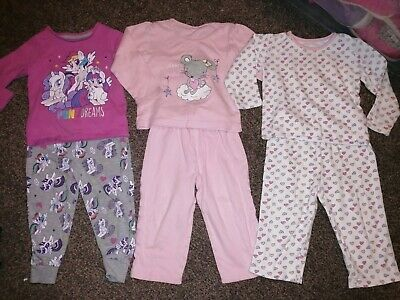 3 Pairs Pyjamas Mothercare And George At Asda 1.5-2 18-24 MLP