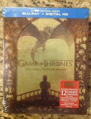 Game of Thrones:Complete Fifth Season (Blu-ray+Digital,2016,4-Disc)NEW Authentic