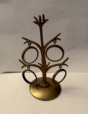 Antique Brass Picture Tree-4 Holders, Victorian Era