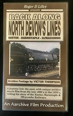 Roger D Lilley Presents Back Along North Devon's Lines Video Tape Cassette