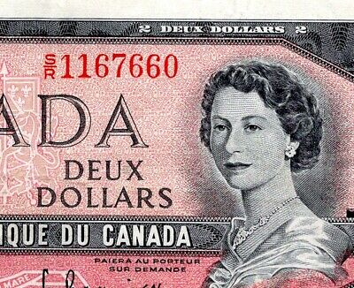 Canada $2 1954   S/R VERY VERY RARE  TEST NOTE