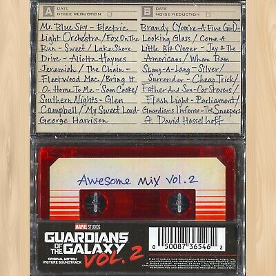 GUARDIANS OF THE GALAXY Awesome Mix Vol. 2 FYE Exclusive RED Cassette Tape  0522