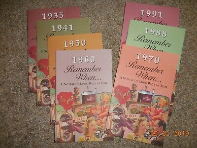 Nostalgic BIRTHDAY Cards Booklets Pick A Year 1930 1998 Remember