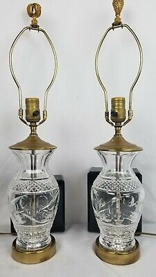 Stunning Pair Of Vintage Waterford Lamps