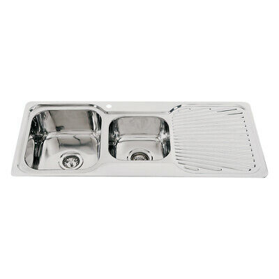 Everest 1 & 3/4 Bowl Kitchen Sink with Right Hand Fan Drainer - ET210R