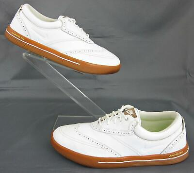 new arrival 4415b 71438 Nike Lunar Swingtip Spikeless Golf Shoes White Leather US 9.5 Fits US 9