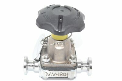 Saunders Crane MV-1801 Sanitary Diaphragm Valve, DN15 Fittings
