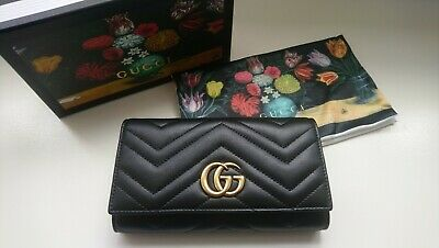 8524059bde37 AUTHENTIC GUCCI CONTINENTAL Clutch Checkbook Wallet Coin Purse GG ...