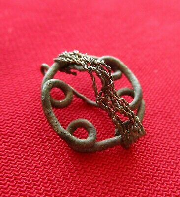 ANCIENT CELTIC BRONZE EARING OPEN WORK . circa 200 AD,