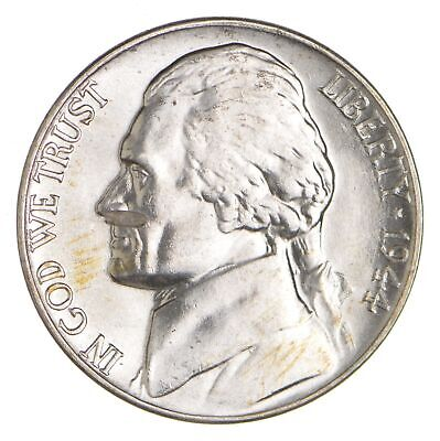 5c BU Unc MS 1944-D Jefferson WARTIME Silver Nickel *018