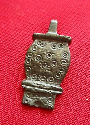 ANCIENT CELTIC BRONZE PENDANT . circa 200 BC,