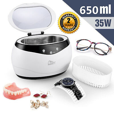 650ml Ultrasonic Cleaner Digital Cleaning Jewelery Clinic Gold Coin Bath Machine