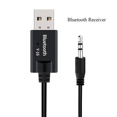 USB 3.5mm AUX Car Y-16 Bluetooth 4.2 Receiver  Wireless Adapter Audio Stereo