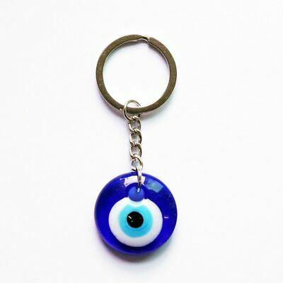 30mm Lucky Turkish Greek Blue Evil Eye Charm Pendant Gift Keychain Accessories