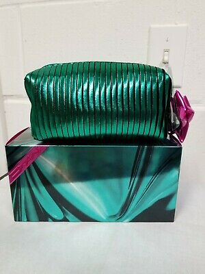 Mac~Authentic Holiday Cosmetics/ Metallic Green Case With Zipper