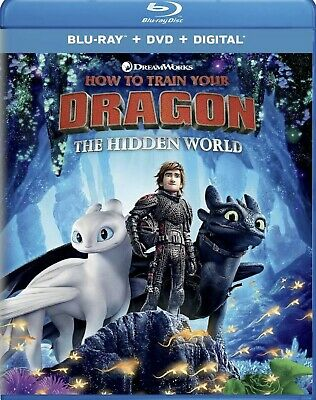 """""""How To Train Your Dragon The Hidden World"""" Blu-ray/DVD/Digital Free Shipping"""