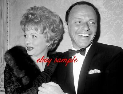 FRANK SINATRA LUCILLE BALL PHOTO - Hollywood Icons in Los Angeles, Circa 1962