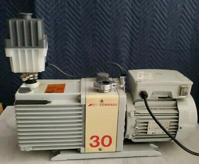 Edwards E2M30 2-Stage Vacuum Pump With Oil Mist Filter A374-15-903 Working Great