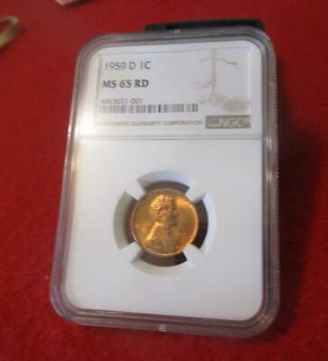 1959-D  NGC MS 65 RD Lincoln Memorial Cent                         #MF-1492