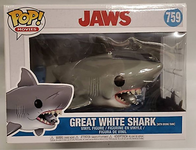 """""""Jaws"""" With Diving Tank Large Funko Pop! 6"""" In-Hand #759"""