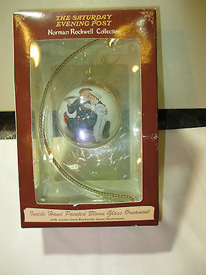 Norman Rockwell Collection Saturday Evening Post Christmas Ornament w/ Stand
