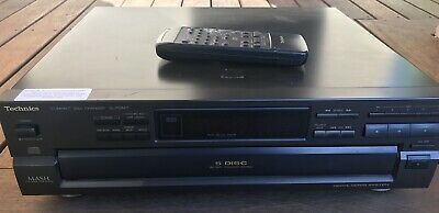 TECHNICS SL-PD847 5 Disc Carousel CD Player - High Quality - Japan With Remote